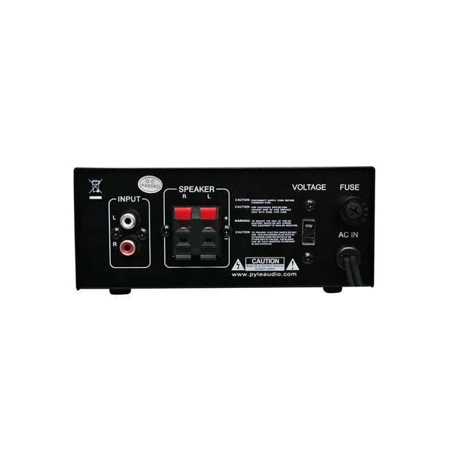 4 x PCAU25A Pyle Mini 2 x 40-Watt Stereo Power Amplifier (4 Pack) 3