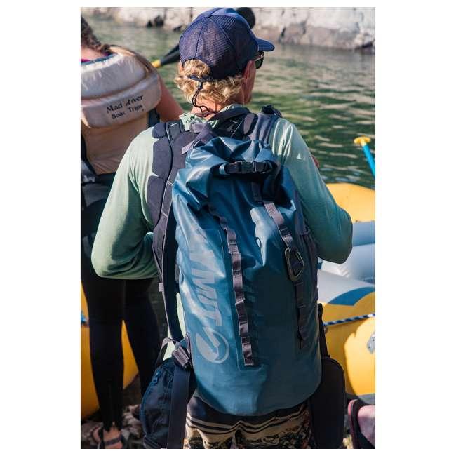 12SPBL01C Klymit 210D Nylon Waterproof Ultra-Lightweight Splash 25 Day Backpack, Blue 4