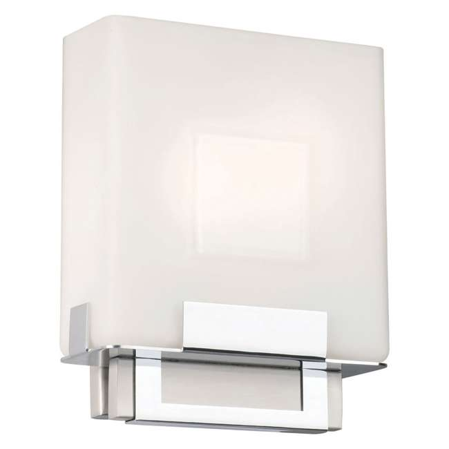 PLC-F544336E1 Phillips Forecast Square Bathroom Light, Satin Nickel (2 Pack) 1