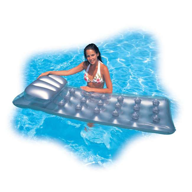 3 x 58894EP INTEX 18-Pocket Suntanner Lounge Floating Lounger (Open Box) (3 Pack) 2