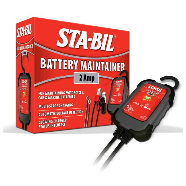 22213 STA-BIL Fuel Stabilizer + 2 Amp Battery Maintainer 7