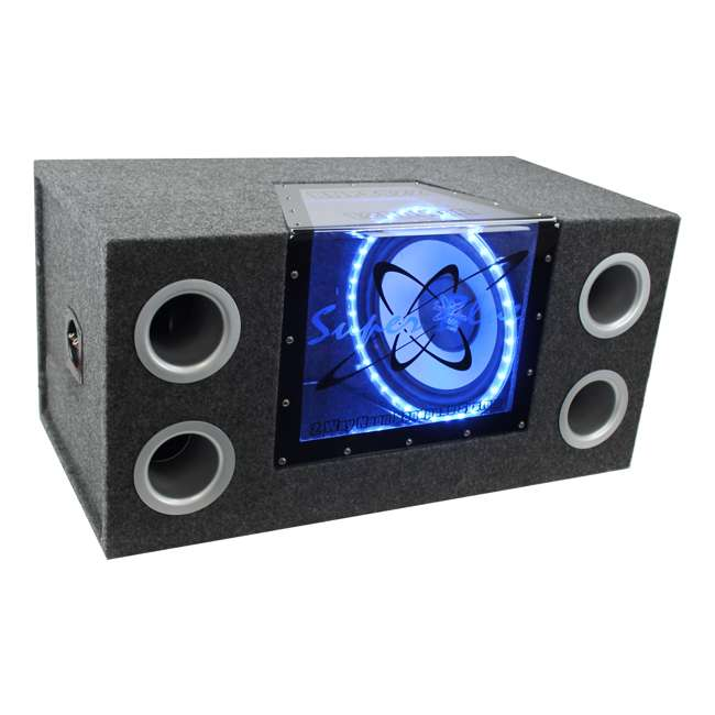 BNPS122 + R1100M + AKS8 Pyramid BNPS122 12-Inch 1200W Subwoofer with Box + 1100W Mono Amp + Amp Kit (Package) 1