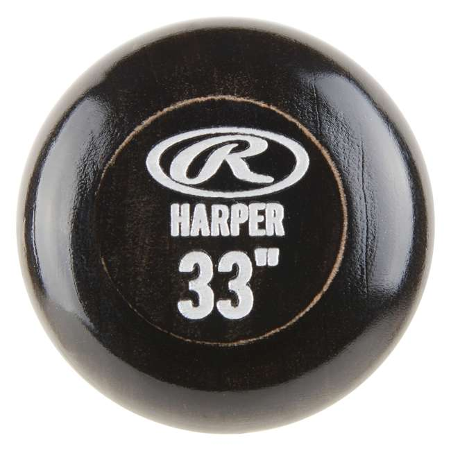 6 x BH34PL-33inch Rawlings Bryce Harper Maple Pro Label 33-Inch Wood Baseball Bat (-3 Drop) (6 Pack) 3