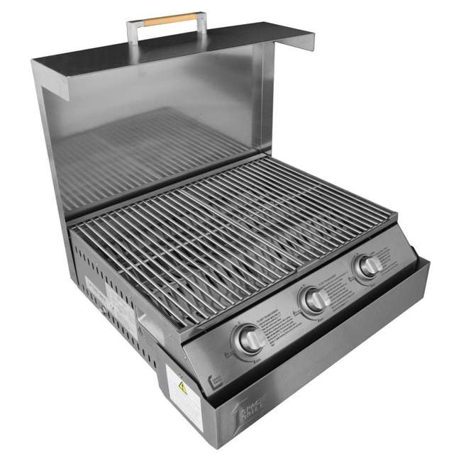 SGBBQ640TC-U-A Dimplex 3 Burner Foldaway Steel Space Grill with Protective Cover (Open Box) 2