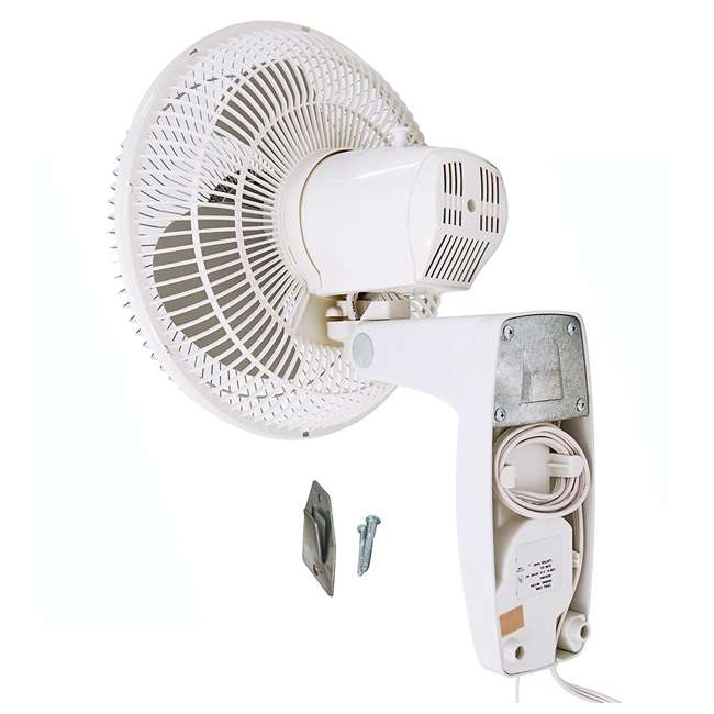 AK-9012-TX-U-B Air King 12-Inch 3-Speed 1/50 HP Commercial Oscillating Wall Fan, White (Used) 3