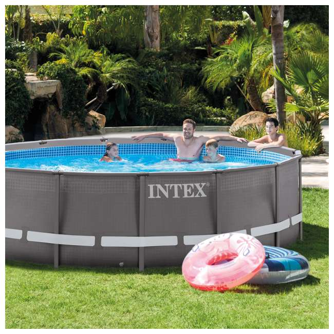 Intex 14 39 X 42 Ultra Frame Swimming Pool Set With Ladder Pump 26309eh