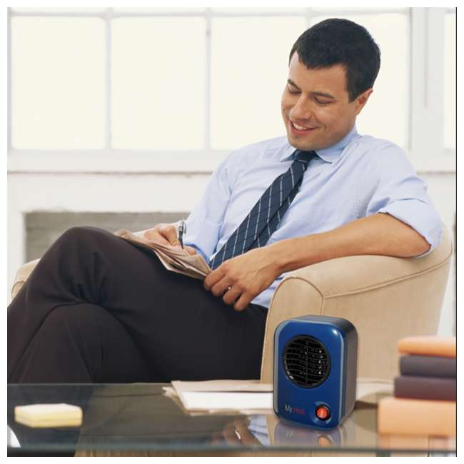 LKO-102-TN Lasko 106 MyHeat Portable Personal Electric 200W Ceramic Space Heater, Blue 1