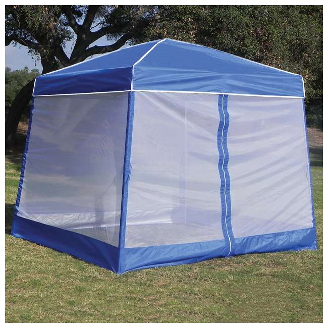4 x ZS1SR10AL-U-B  Z-Shade 10 Foot Screenroom Shelter, Blue (Canopy Not Included) (Used) (4 Pack) 1