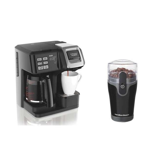 49976 + 80335R Hamilton FlexBrew Coffee Maker w/ Hamilton Beach Coffee Grinder