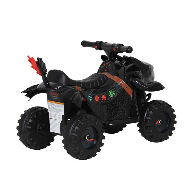 W413D Rollplay How to Train Your Dragon Battery Kid's Mini Quad 4 Wheeler Ride-On Toy 4