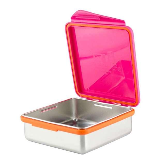 894148002800 Kid Basix 894148002794 Safe Snacker 23 Ounce Stainless Steel Lunch Box, Fuchsia