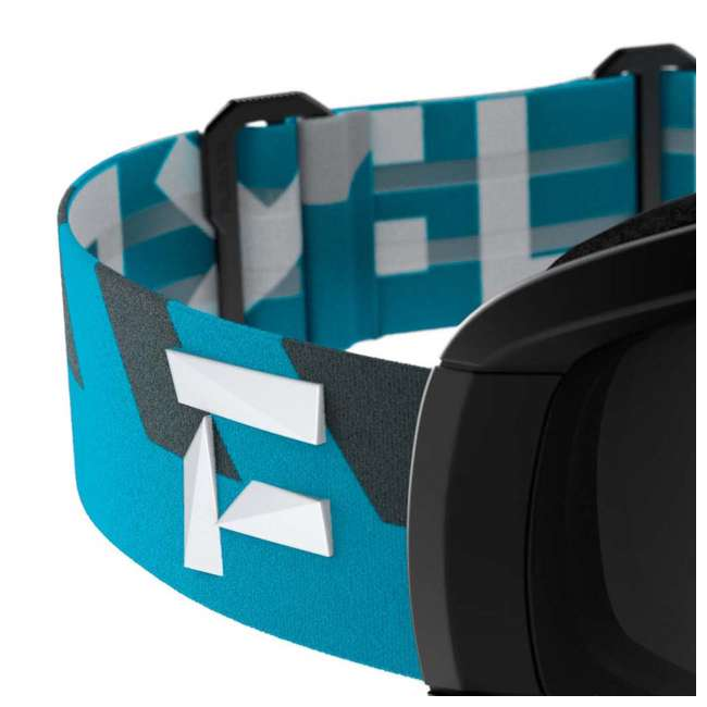FX801001031ONE Flaxta Continuous Peripheral Vision Snowboard and Ski Goggles, Teal and Black 2
