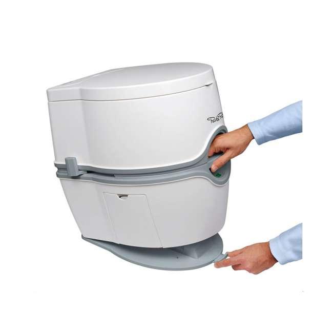 92306 Thetford 565E Porta Potti Portable Battery Powered Flush Travel Toilet, White 3