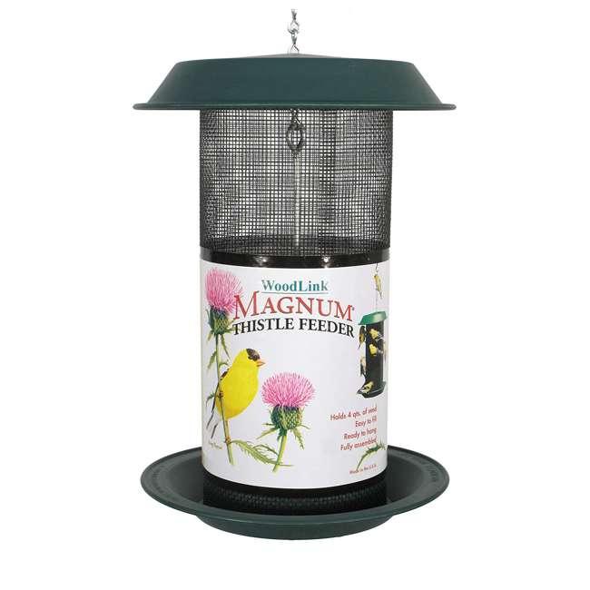 24501 Woodlink Magnum 4-Quart Nyjer Thistle Seed Hanging Screen Bird Feeder, Green 1