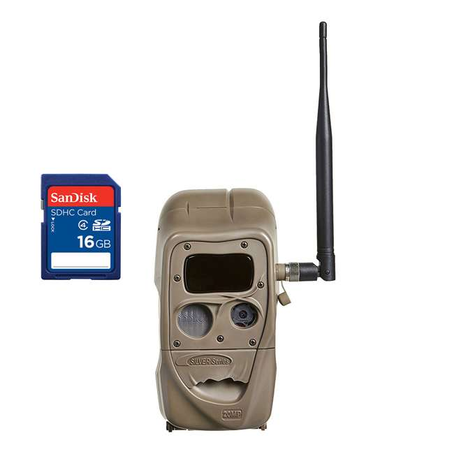 J1422-BLACKFLASH + SD4-16GB-SAN Cuddeback CuddeLink 20MP Invisible IR Game Camera + 16GB SD Card