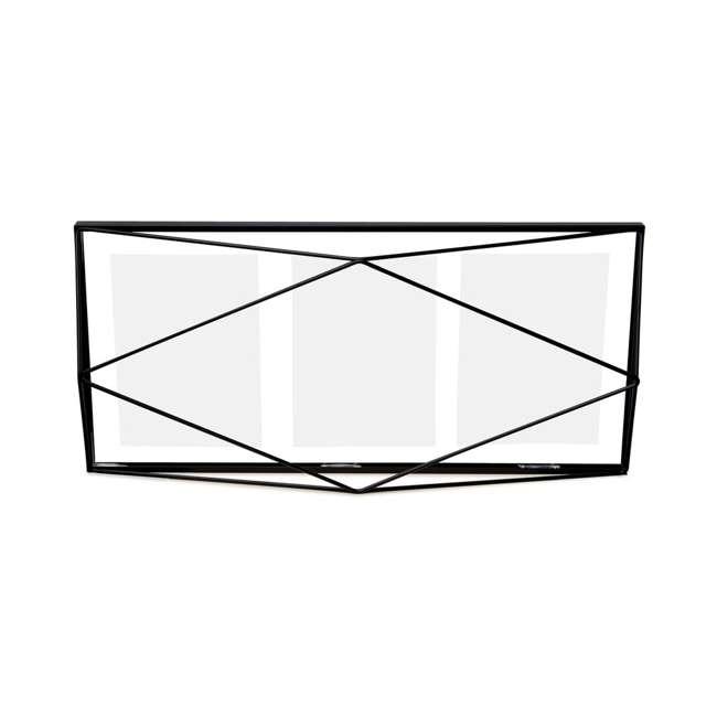 313019-040 Umbra Prisma Geometric 3 Photo Picture Frame, Black 1