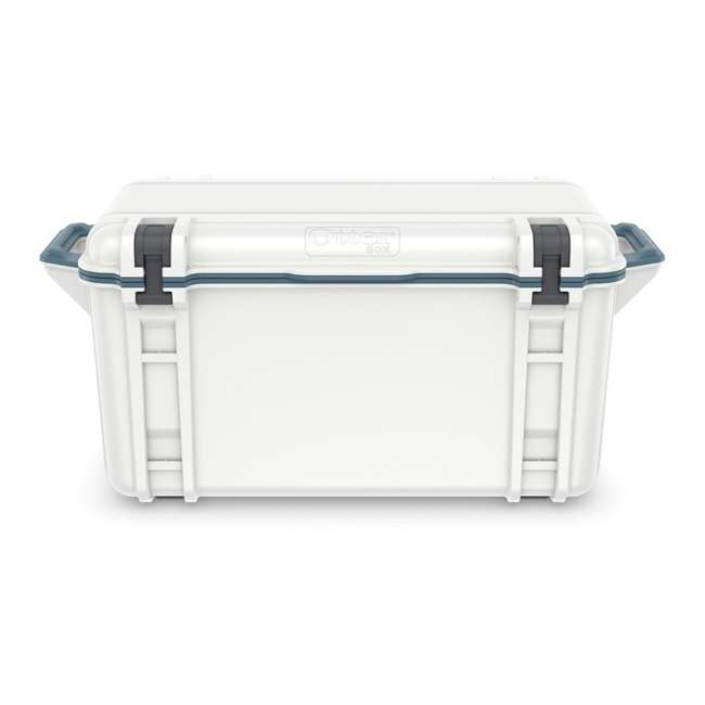 77-54868 Otterbox Venture Heavy Duty Outdoor Camping Fishing Cooler 65-Quarts, White/Blue 3