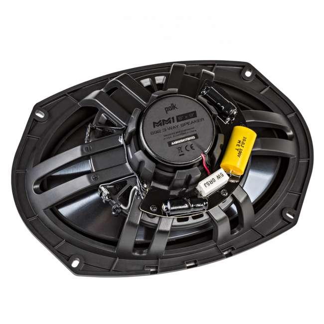 MM692 Polk Audio MM1 Series 6x9 Inch 450W Coaxial Marine Boat ATV Car Audio Speakers 6