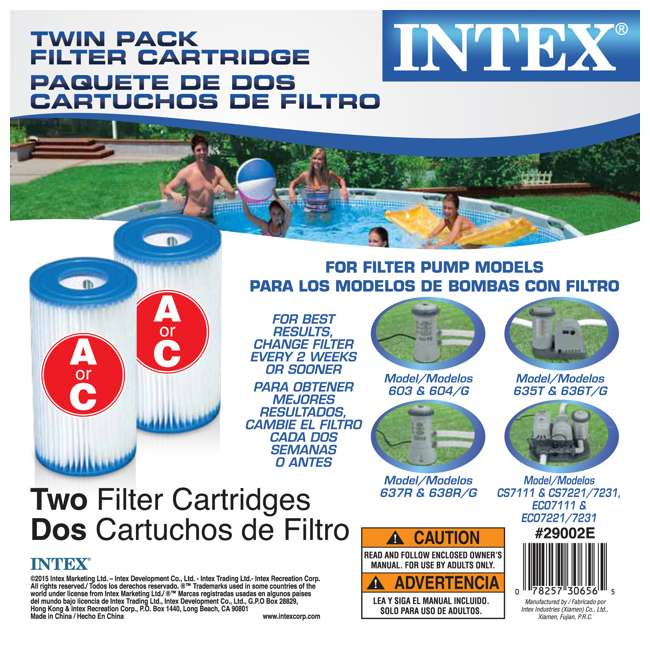 6 x 29002E Intex Easy Set Pool Type A or C Filter Cartridges Twin Pack (6 Pack) 4
