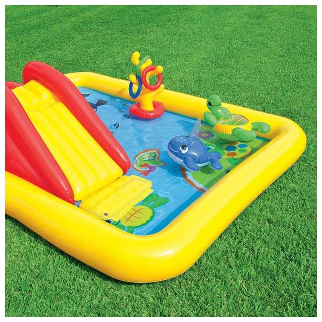 57454EP + 57453EP Intex Inflatable Ocean Kiddie Pool (2 Pack) & Intex Rainbow Ring Pool (2 Pack) 8