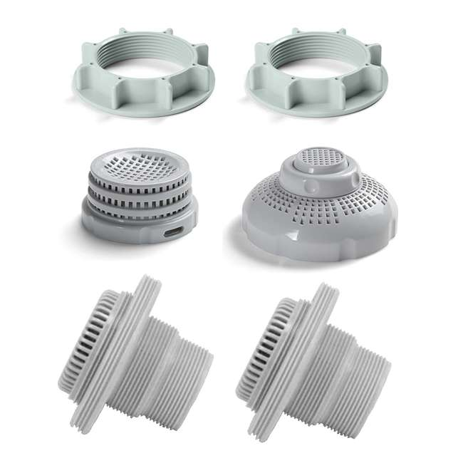 Intex 1 5 Inch Above Ground Pool Inlet And Outlet Fittings Set 26073rp