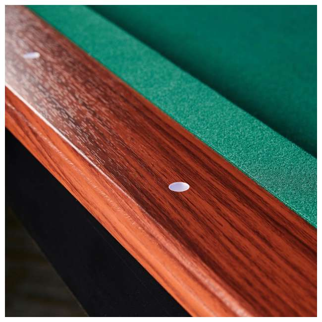 BLL090_128P Lancaster 90-Inch Full Size Green Pool Table w/ Leather Pockets, Cues, and Chalk 2