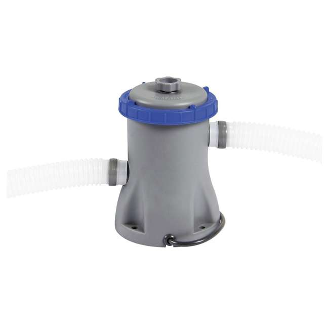 56545E-BW + 58382E-BW Bestway Above Ground Pool and Flowclear Filter Pump  8