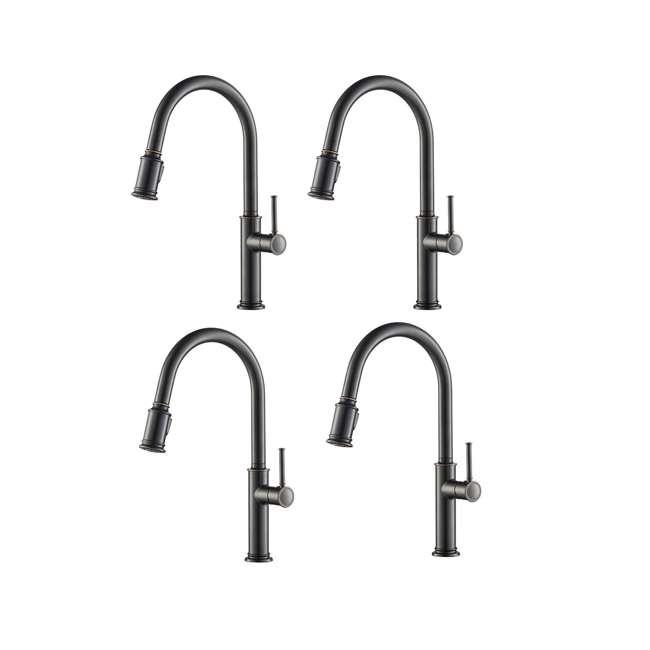 4 x KPF-1680ORB Kraus Sellette Pull-Down Lever Kitchen Faucet, Bronze (4 Pack)