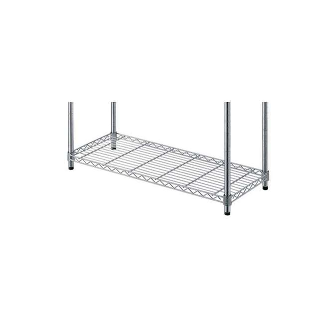 AM178-U-C AIMCO 4 Tier Heavy Duty Household Storage Wire Shelving Unit (For Parts) 4