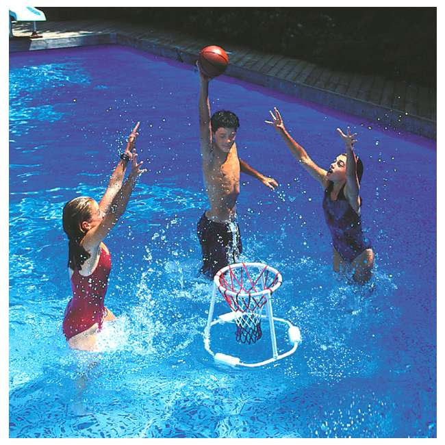 6 x 9162 Swimline 9162 Swimming Pool Floating Basketball Game (Open Box) (6 Pack) 1