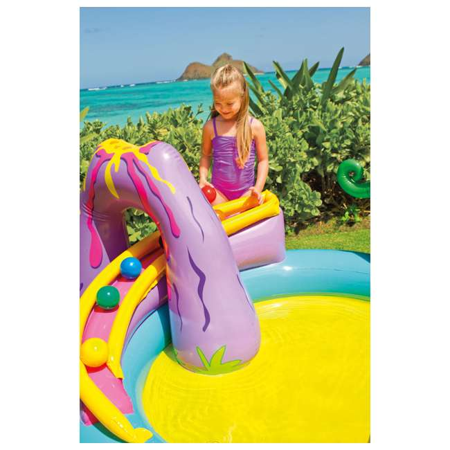 57135EP Intex Dinoland Play Center Kiddie Inflatable Slide Swimming Pool & Games (Used) 3