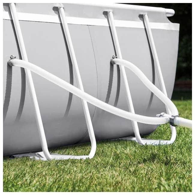 26797EH-U-B Intex 20ft x 10ft x 48in Prism Frame Oval Pool Set Ladder, Cover, Pump (Used) 2