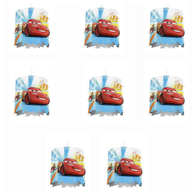 8 x PLC-7175132U0 Philips Disney Pixar Cars McQueen Kids Light Lampshade Only (8 Pack)