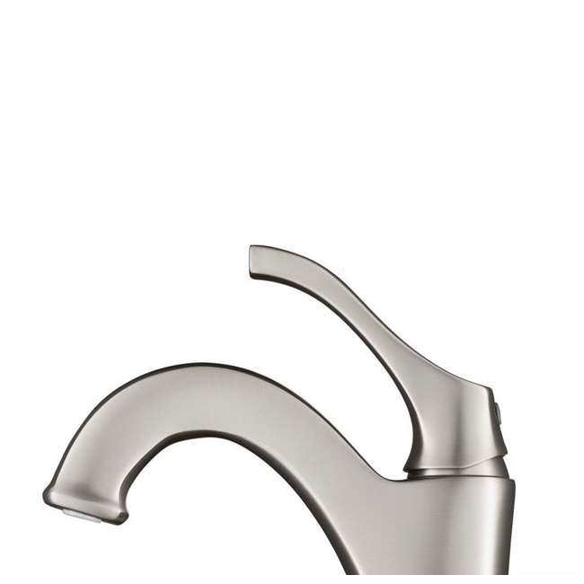 KVF-1200SFS Kraus Arlo Single Handle Vessel Bathroom Faucet, Stainless Steel (2 Pack) 5