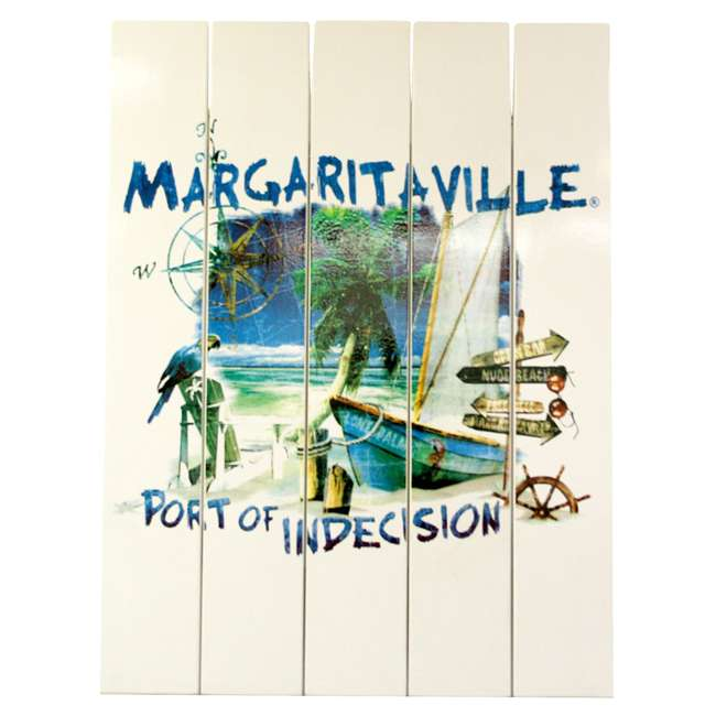 4 x RIOPSSR115-MV Margaritaville Outdoor Port of Indecision Sign, White (4 Pack) 1