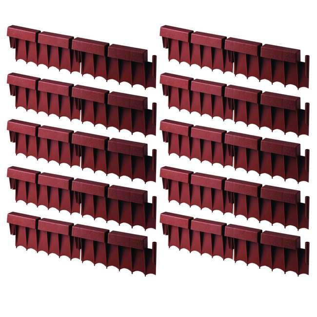 10 x BBE10TC Suncast 10' Interlocking Brick Resin Border Edging, 12 Inch Sections (10 Pack)