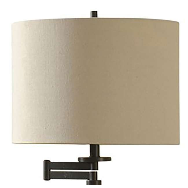 SC-L72755 Abode 84 Madison Bronze Floor Lamp with Swing Arm and Fabric Drum Shade 1