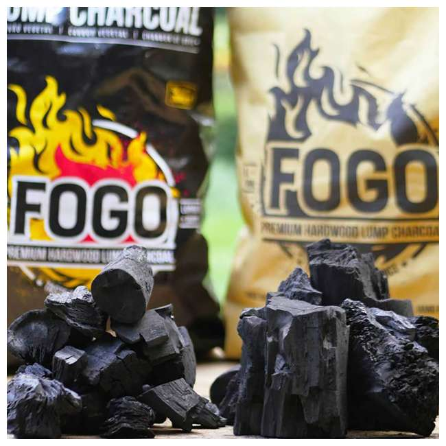 FG-CH-FP-17/FB-17 FOGO Super Premium and Premium Oak All-Natural Hardwood Lump Charcoal, 17 Pounds 1
