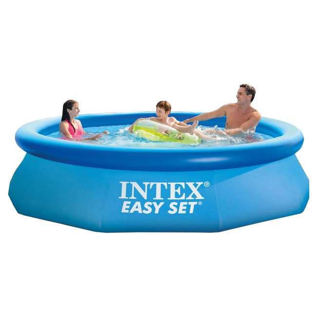 intex 10 39 x 30 inch easy set above ground swimming pool with quick fill ac air pump 28120eh. Black Bedroom Furniture Sets. Home Design Ideas