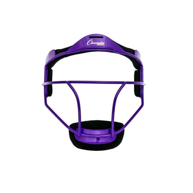 FMYPR Champion Sports Youth Softball Fielder's Metal Safety Face Mask/Guard, Purple