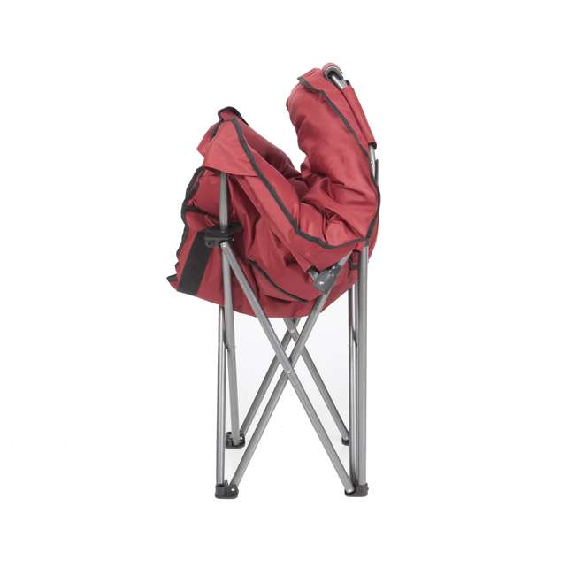 Mac Sports Portable Folding Padded Club Chair Wine Red