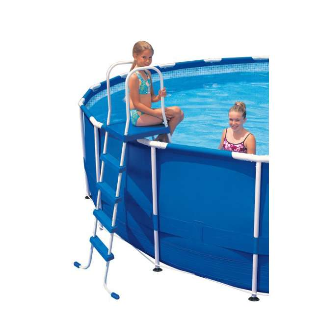 "I58975 INTEX 52"" Above Ground Swimming Pool Ladder with Steel Frame 58975E (Brown Box)"