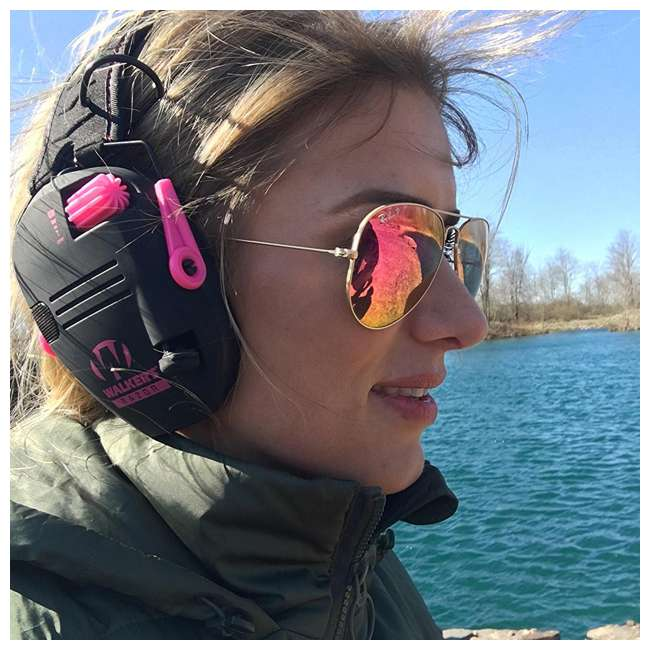 GWP-RSEM-PNK Walker's Razor Series Slim Shooter Folding Earmuffs, Pink 2