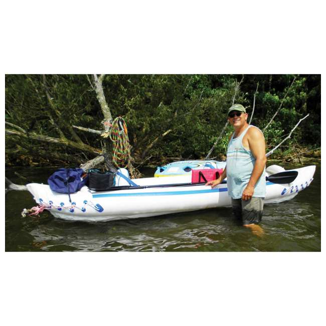 SE370K-PRO Sea Eagle 370 Pro 3 Person Inflatable Portable Sport Kayak Canoe Boat w/ Paddles 3