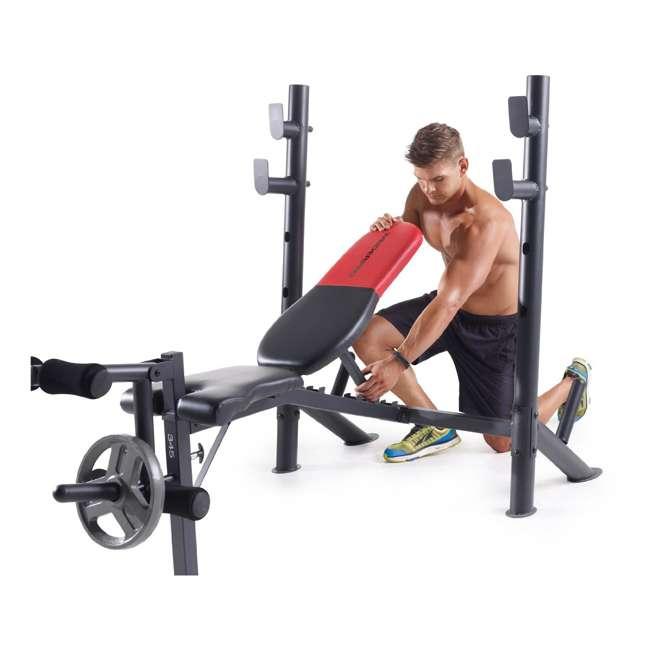 weider pro 345 b mid width bench press 15694 15964
