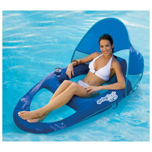 13022 SwimWays Spring Float Recliner with Canopy (2 Pack) 5