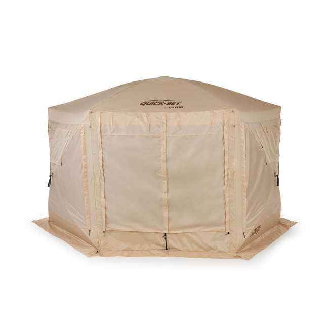 CLAM-PV-114244 + CLAM-PV-FLOOR-12878 Clam Quick Set Portable Canopy + Floor Tarp Attachment 2