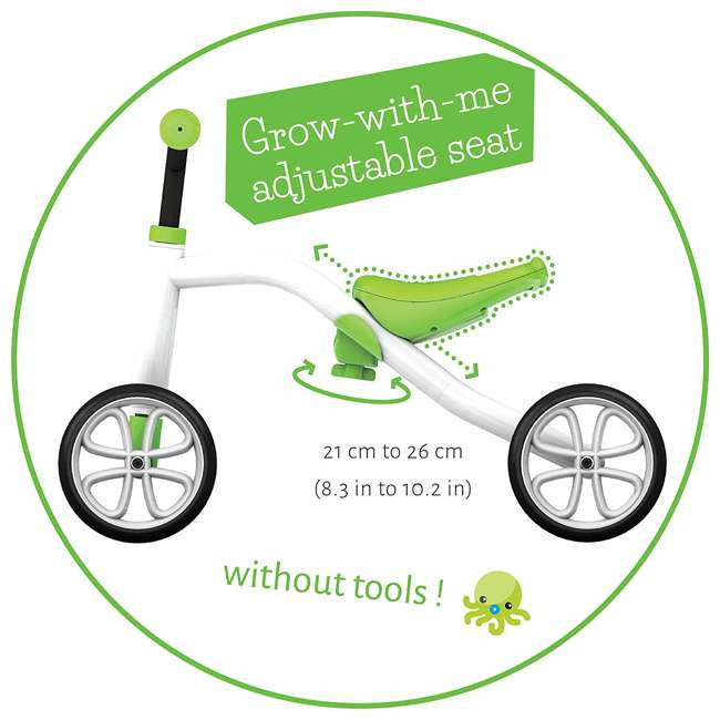 CPQD01LIM Chillafish CPQD01LIM Grow With Me Lightweight Steel Quad Ride On 4 Wheeler, Lime 3