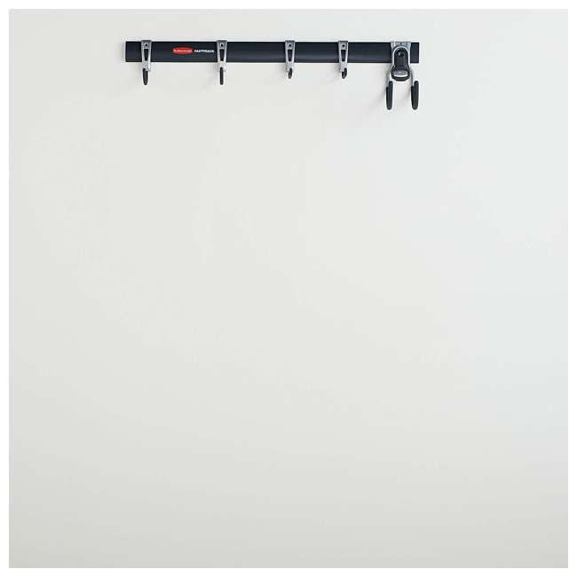 1784418 Rubbermaid FastTrack Garage Storage System 6 Piece Rail and Hook Kit (2 Pack) 2