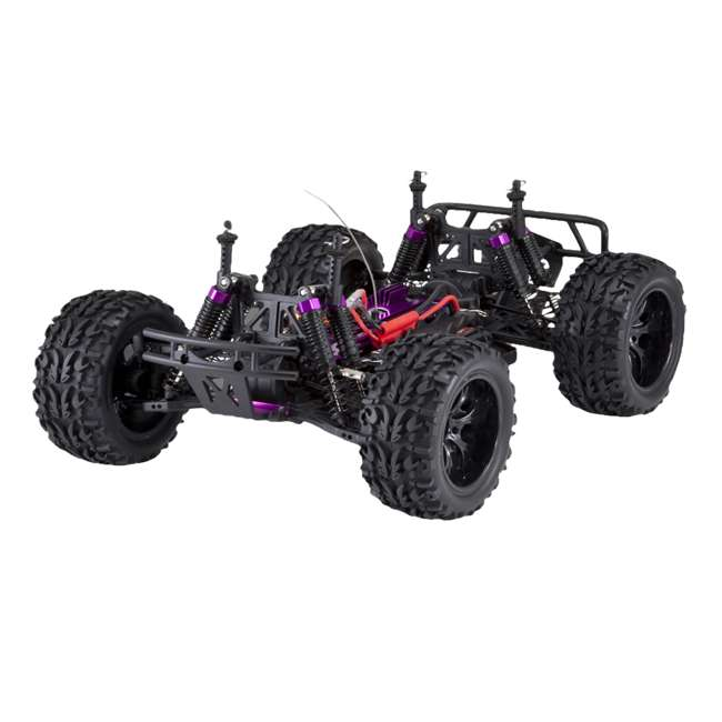 4 x VOLCANOEP-94111-RedBlack-24 Redcat Racing Volcano EPX 1:10 Scale RC Monster Truck, Red (4 Pack) 5